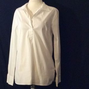 Talbots White L/sleeves pullover tunic/shirt # 4